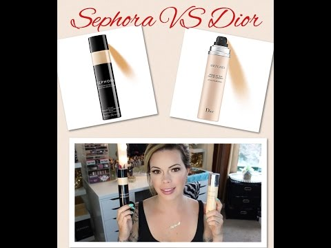 Sephora Perfection Air Mist vs Dior Airflash Foundation | Review w Wear Check Ins