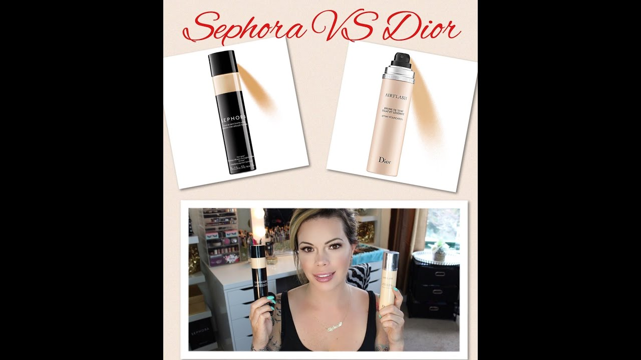 Sephora Perfection Air Mist vs Dior Airflash Foundation | Review w ...