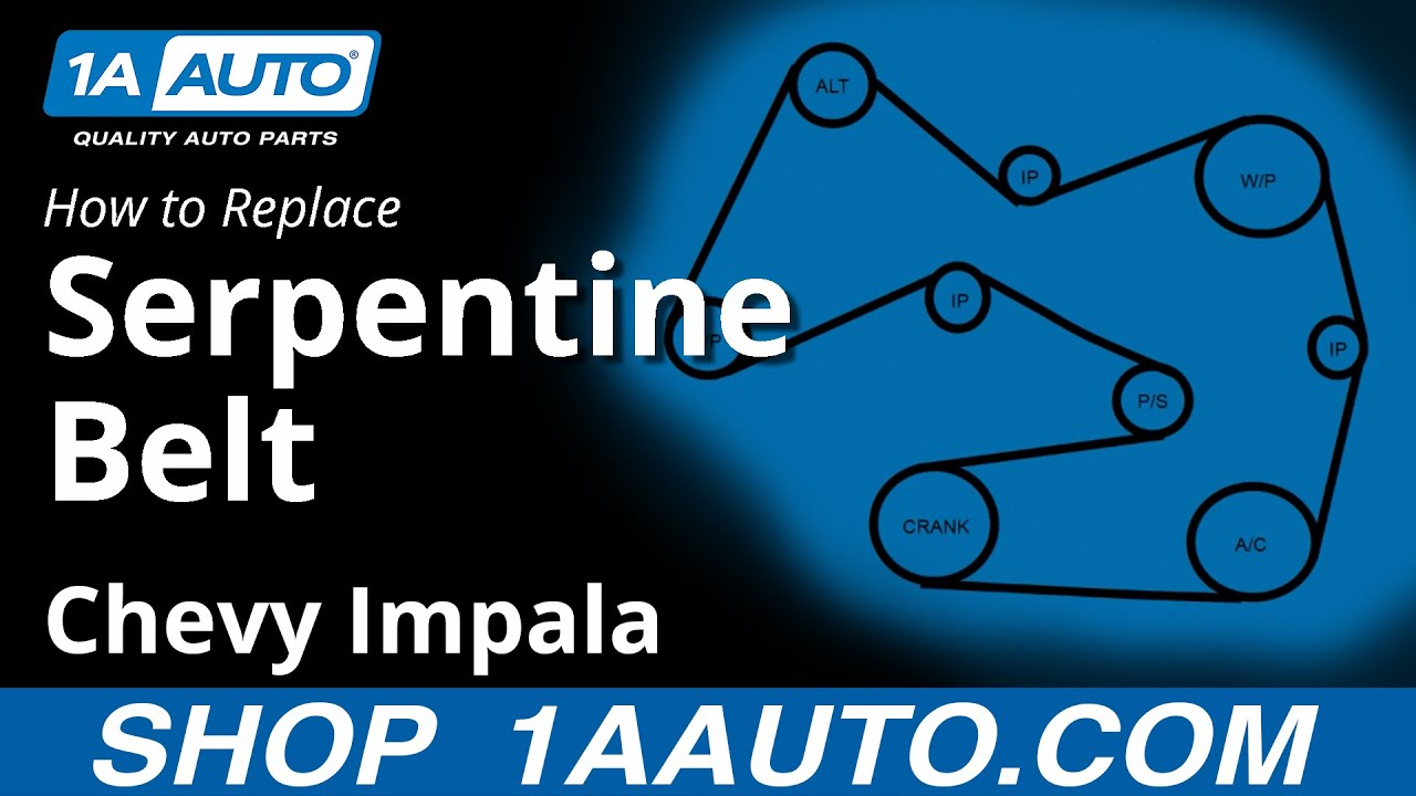 how to install replace engine serpentine belt 2006 12 chevy impala 3 5l youtube [ 1920 x 1080 Pixel ]