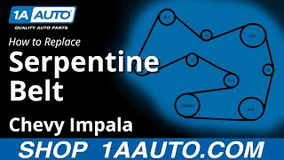 How To Replace Serpentine Belt 06 11 Chevy Impala Youtube
