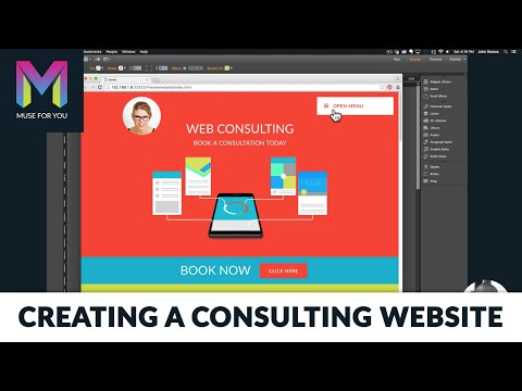 Creating A Web Consulting Website | Easy Appointments | Adobe Muse CC | Muse For You