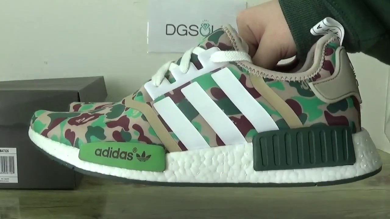 667fe90d8 Adidas Bape NMD x1 review from DGsole.cn - YouTube