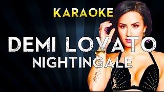 Demi Lovato - Nightingale | Lower Key Karaoke Instrumental Lyrics Cover Sing Along