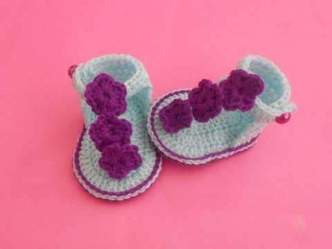 CrochetCrosia How To Make Baby Crochet Sandals YouTube Mesmerizing Crochet Baby Sandals Pattern
