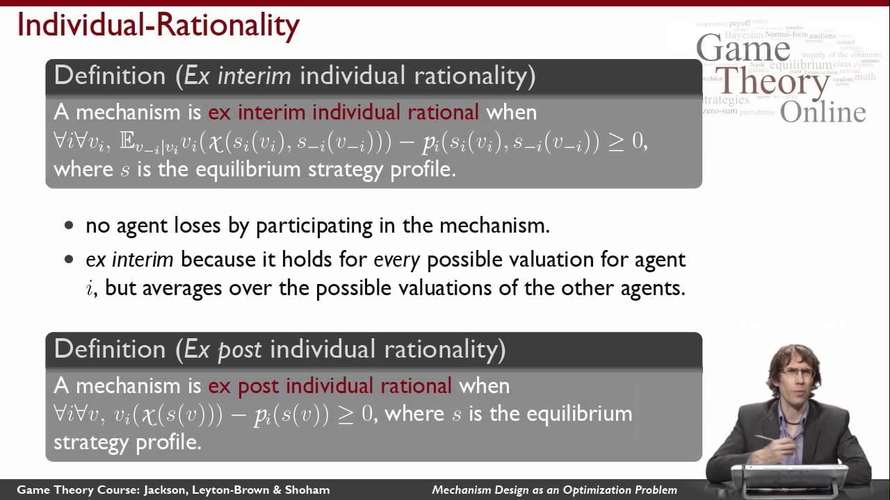 GTO2-2-06: Mechanism Design as an Optimization Problem