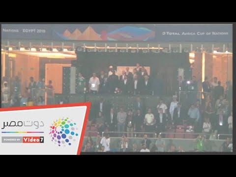 وزير الشباب والرياضة يحضر مباراة الجزائر ونيجيريا  - 00:53-2019 / 7 / 15