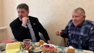 Встреча с ветераном Великой Отечественной войны, Николай Новопашин в гостях у коренных ипатовцев