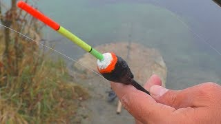 Рыбалка в карьере на поплавок. My fishing