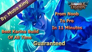 Mobile Legends Best Karina Build Of All Time / Unbeatable Guide