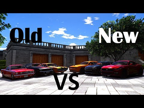 Gta V Old Vs New Ford Mustang Dodge Challenger Chevrolet