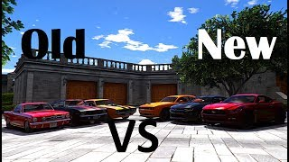 GTA V | OLD VS. NEW | FORD MUSTANG & DODGE CHALLENGER & CHEVROLET CAMARO ✪ AMERICAN MUSCLE CARS