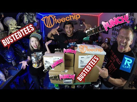 Mega T-Shirt Unboxing - Shirt Punch - Busted Tees - Teechip