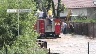 Olszyna powódź po burzy 5 lipca 2012