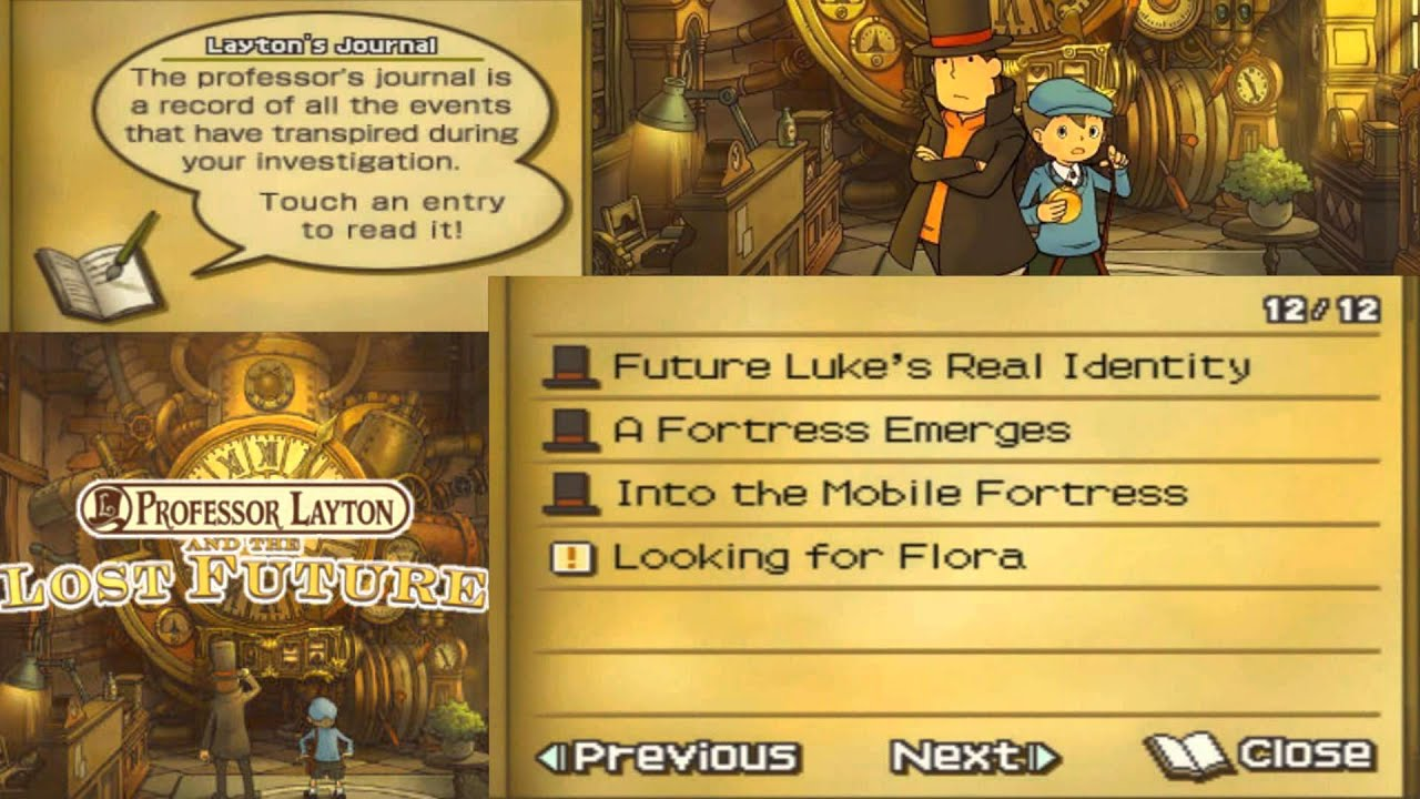 Professor Layton And The Lost Future Walkthrough Part 38 Youtube