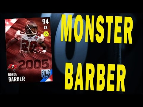 Ronde Barber is a Monster and Eddie Lacy Is Kinda POO - Madden NFL 16 - MUT