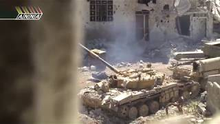 Сирия  Джобар  Тяжелый день для танкистов