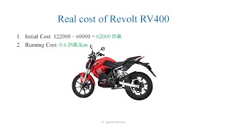 Real Cost of Electric Vehicle Vs False Judgement | Cost of Revolt RV 400