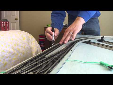 How to Build a Model Railroad using a 4 x 8 Table Episode 4 Marking the track.