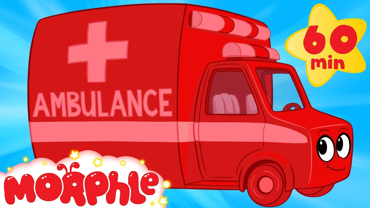 My Magic Ambulance  (+1 hour Morphle kids videos compilation with cars, trucks, bus etc)