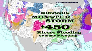 Long Duration Nor'Easter is creating major chaos on East Coast & 450 Rivers Flooding or Near stage