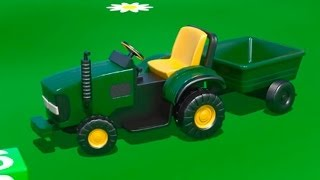 Kid's 3D Construction 4: Build a TRACTOR demo & Learn to Count Lesson [건설, 자동차, 트랙터, 시멘트 트럭]
