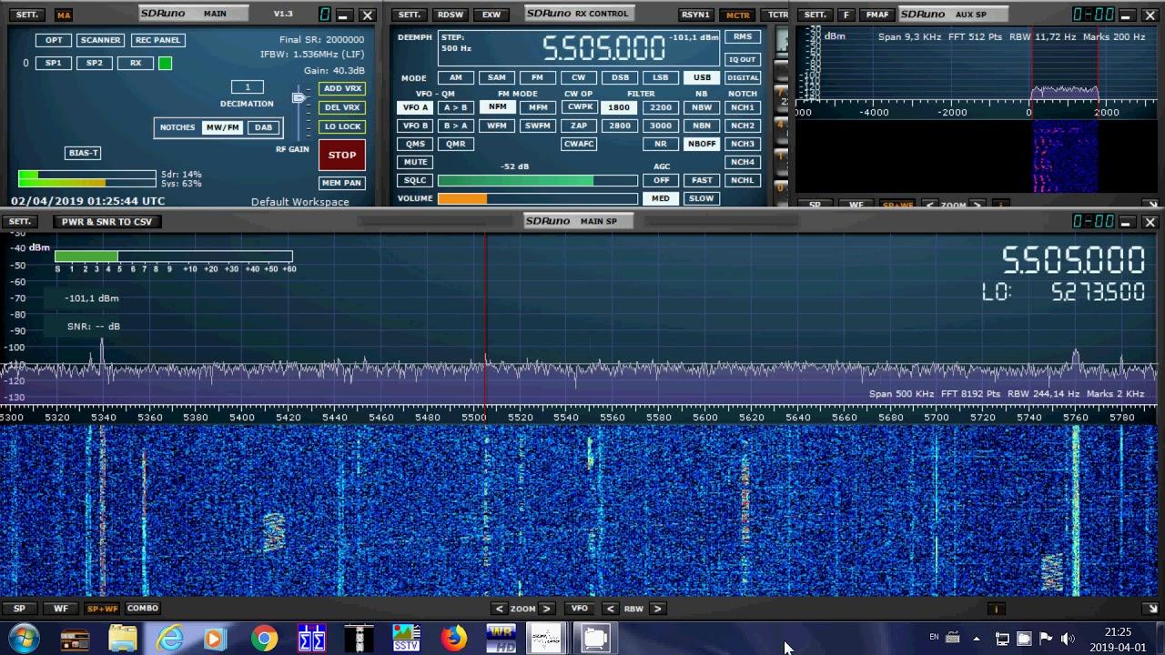 Shannon Volmet Ireland 5505 kHz USB Shortwave on SDRplay RSP1A SDR