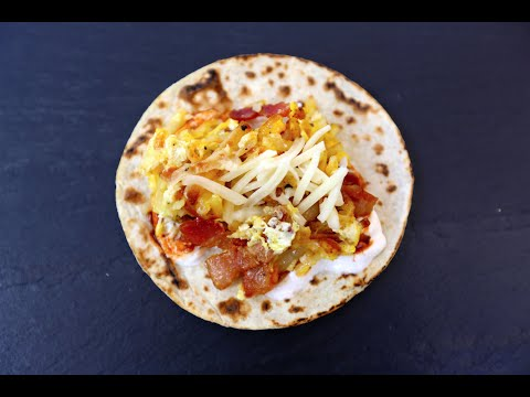 Best Egg, Hash Brown & Bacon Taco recipe by SAM THE COOKING GUY