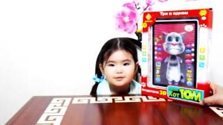 #Говорящий Кот ТОМ-Интерактивная игрушка 3D планшет Tom Cat funny toy unboxing