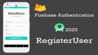 #1 Login And Registration Android App Tutorial Using Firebase Authentication - Create User
