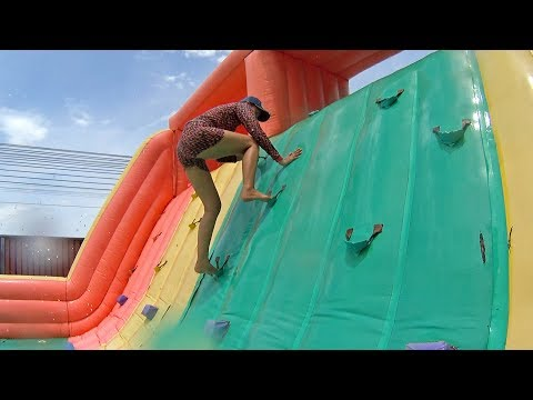 Ridiculous Balloon Water Slide At Pantai Norasingh Water Park
