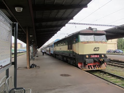 Czech Republic: Prague/Praha Vrsovice, CD Railways Class 749 departs on a service to Tynec