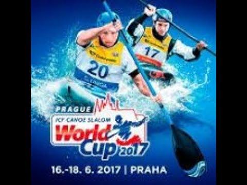 ICF Canoe Slalom World Cup 1, Prague, Saturday morning