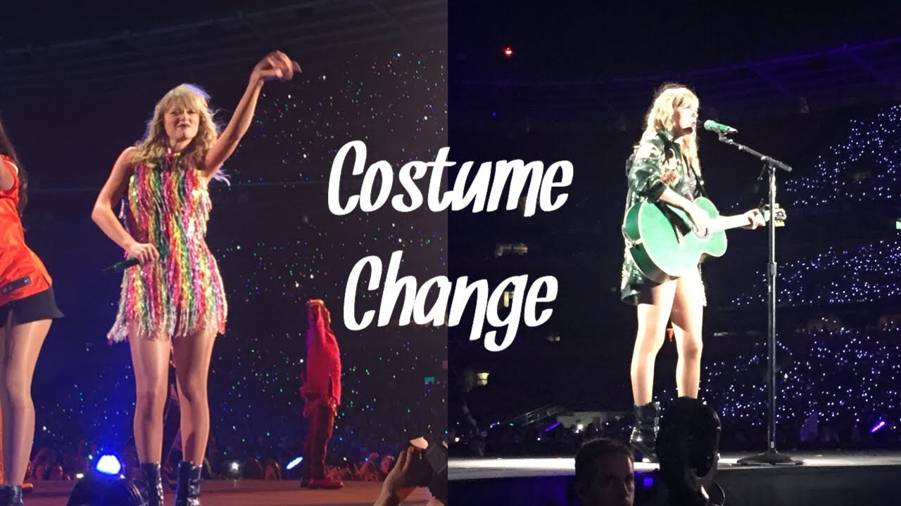 Taylor Swift On Stage Costume Change Reputation Tour Cleveland Youtube