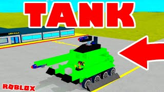 How To Build A TANK (Roblox Plane Crazy)