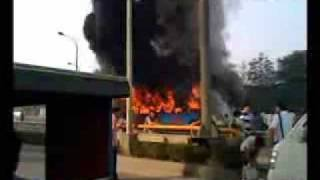 China Bus Fire Kills 25 with 76 Injured in Chengdu - 06-05-09
