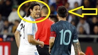 This is what happened between Lionel Messi & Edinson Cavani | Argentina vs Uruguay 18.11.2019 HD