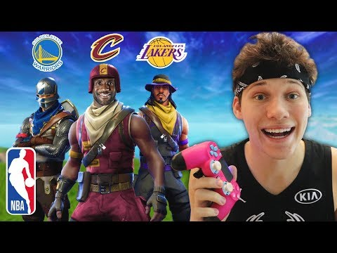FORTNITE SQUADS WITH 3 NBA BASKETBALL PLAYERS!!