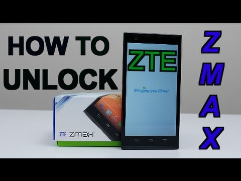 the caveat how to unlock zte zmax pro LTE