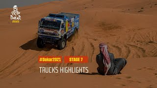 #DAKAR2021 - Stage 7 - Ha'il / Sakaka - Truck Highlights