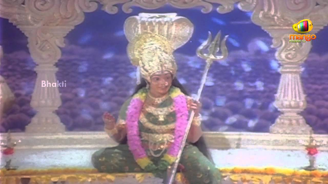 Sri Devi Mookambika Movie Scenes - Indrudu seeks Goddess ...