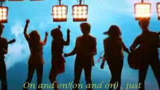 Miley Cyrus, Jonas Brothers, Demi Lovato, Selena Gomez - Send it on ; lyrics with sound!