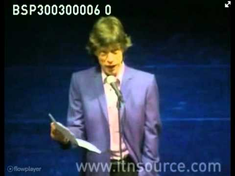 Mick Jagger opens Community Arts Centre at old school in Dartford [2000]