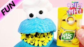 Minions Tic Tac 限量版 香蕉味 小小兵 小黄人 薄荷糖 饼干怪兽 一起试吃 展示