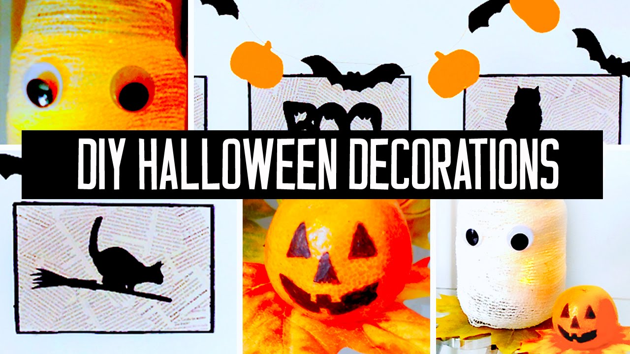 super easy affordable diy halloween decorations for your room or party youtube - Cute Halloween Decor