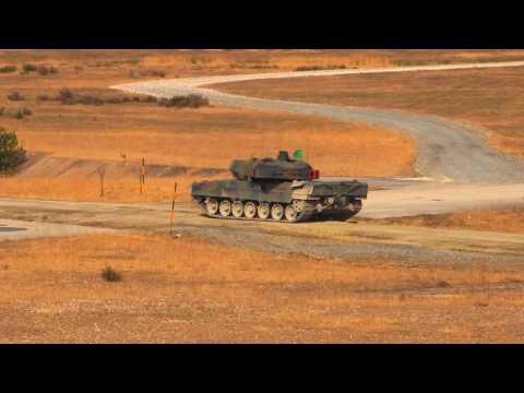 US 7th Army JMTC   Leopard 2A6 Main Battle Tanks and C1 Ariete Main Battle Tanks 1080p