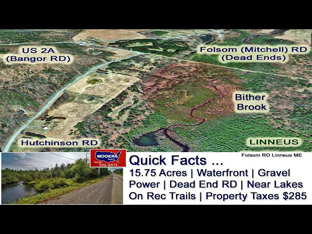Land In Maine For Sale Video | Maine Real Estate MOOERS REALTY 9073