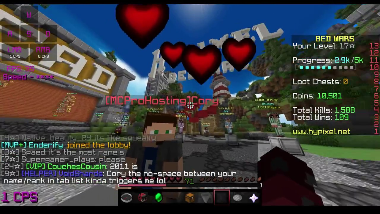 mcprohosting rank on my friends list hypixel youtube