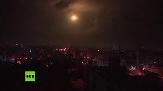 El momento exacto en que la Cúpula de Hierro intercepta los cohetes disparados desde Gaza