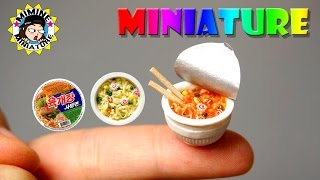 미니어쳐 육개장 사발면 만들기 Miniature - Cup Ramen