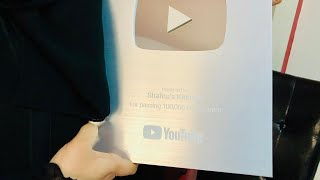 Thank U All- you tube silver play button award- unboaxing silver play button